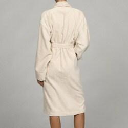Unisex Ecru Rayon from Bamboo Spa Bath Robe - Thumbnail 1