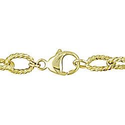 Miadora 18k Yellow Gold Green Amethyst and Citrine Bracelet