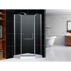 DreamLine 35.5 inches x 76.75 inches Horizon Frameless Pivot Shower Enclosure