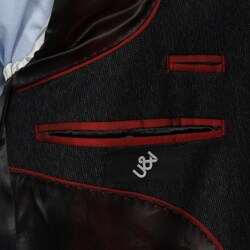 Thumbnail 2, U&I Men's Navy Wool-blend Sportcoat. Changes active main hero.