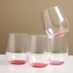 Riedel 'O' Crescendo Viognier/ Chardonnay Pink Tumblers (Pack of 4)