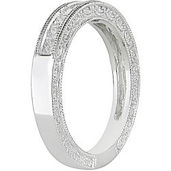 Miadora 10k White Gold 1/2ct TDW Diamond Anniversary Ring (G-H, I2-I3) - Thumbnail 1