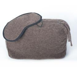 Sophia Cashmere Heather 2-ply Jersey Throw Travel Set - Thumbnail 1