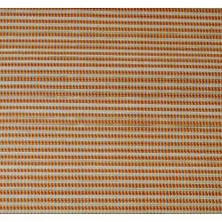 Asian Hand-woven Orange Striped Bamboo Rug (2' x 3') - Thumbnail 1
