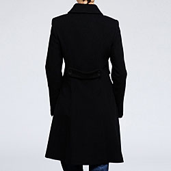 DKNY Women's Cashmere blend wool Fitted Coat - Thumbnail 1