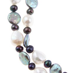 Multi-colored Freshwater Pearl 60-inch Endless Necklace (5-11 mm) - Thumbnail 1