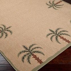 Shop Picnic Beige Palm Tree Border Indoor Outdoor Rug 5 3
