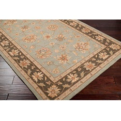 Hand-hooked Bliss Outdoor Silver Sage Rug (5' x 8') - Thumbnail 1