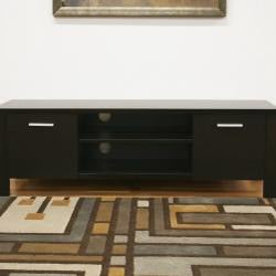 Wythe Dark Brown Modern Wood TV Stand