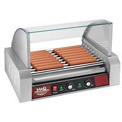 Mad Dawg Commercial Nine Roller Hot Dog Machine with Cover