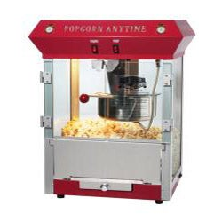 Popcorn Time Red 6-oz Antique Popcorn Machine and Cart - Thumbnail 1