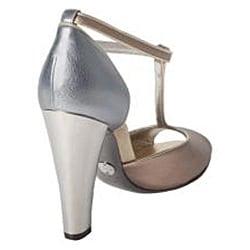 Dolce & Gabbana Women's Leather Gold Heeled Sandals