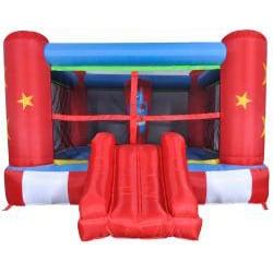 Waliki Medium Boxing Ring Inflatable Bounce House with Punching Bag - Thumbnail 1