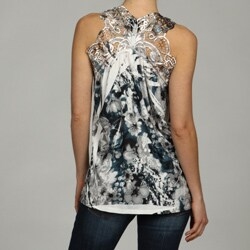 Simply Irresistible Women's Sleeveless Lace Back Top