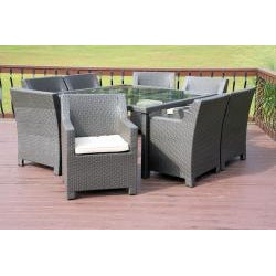 Durdan Outdoor Classics Durdan All Weather Wicker 9-piece Dining Set - Thumbnail 1
