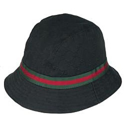 gucci black logo canvas bucket hat free shipping today 13404555. Black Bedroom Furniture Sets. Home Design Ideas