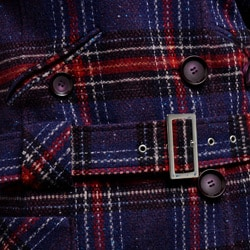 Nicole Miller Women's Plaid Wool-blend Low Belted Coat - Thumbnail 1