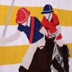 U.S. Polo Association Rugby Stripe 34x64 Yellow and White Beach Towel - Thumbnail 1