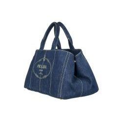 Prada B1872B Blue Denim Tote Bag - Thumbnail 1