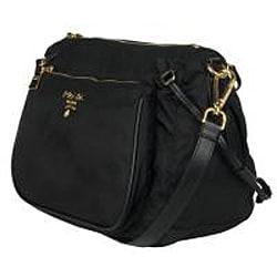 Prada BT0689 Black Nylon Cross-body Bag