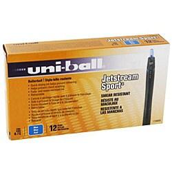 Uni Ball Jetstream Sport Blue Rollerball Pens (Pack of 12)