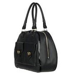 Chloe Black Leather Shopper Bag
