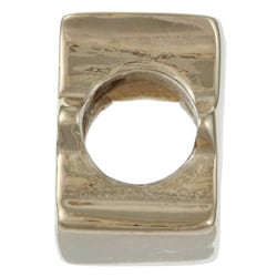 Signature Moments 14K Gold over Silver 'E' Alphabet Bead - Thumbnail 1