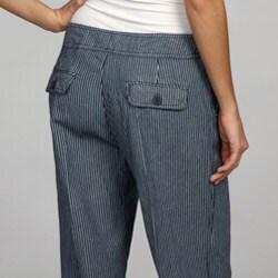 Larry Levine Women's Striped Wide-leg Sailor Pants