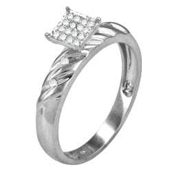 Sterling Silver 1/8ct TDW Diamond Ring (H-I, I3)
