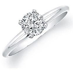 14k White Gold 3/4ct TDW Certified Diamond Solitaire Engagement Ring (H-I, I1-I2) - Thumbnail 1