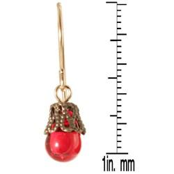 'Talutah' 14k Gold Fill<br>Glass Earrings - Thumbnail 1