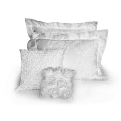 Luxury Handmade Cotton White Soutache 5-piece Queen-size Comforter Set - Thumbnail 1