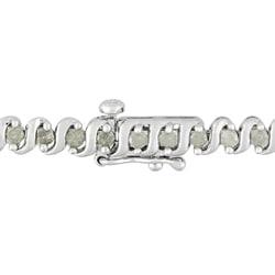 Miadora Sterling Silver 2ct TDW Diamond Bracelet (H-I, I3)