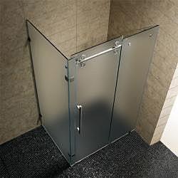 Vigo 36 x 48 Frameless 3/8-inch Frosted Right Shower Enclosure