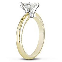 Miadora 14k Two-tone Gold 3/4ct TDW Diamond Solitaire Ring (G-H, VS2) - Thumbnail 1