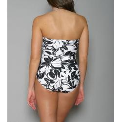 Jantzen Women's One-Piece Black Bandeau Swimsuit - Thumbnail 1
