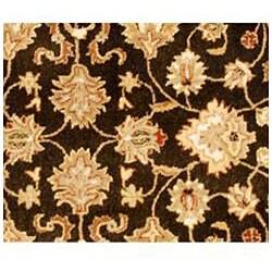 Hand-tufted Kayden Brown Wool Rug (6' Round)