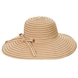 Grosgrain Ribbon Packable Crushable Travel Sun Hat (China) - Thumbnail 1