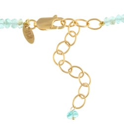 14k Gold over Sterling Silver 'Love' Apatite Necklace - Thumbnail 1