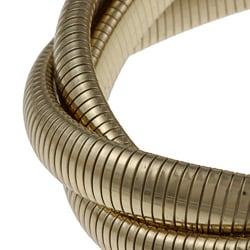 Celeste 18k Gold Overlay Interlocked Omega Stretch Bracelet - Thumbnail 1