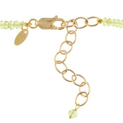 14k Gold over Sterling Silver 'Peace' Peridot Necklace