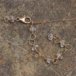 Rose Quartz and Keshi Pearl 14k Goldfill Necklace (6 mm) - Thumbnail 1