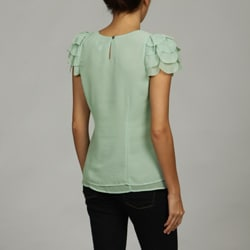 Olive & Oak Women's Ruffled Short Sleeve Blouse