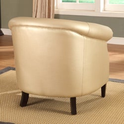 Trenton Gold Metallic Accent Arm Chair Free Shipping