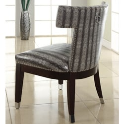 Trenton Faux Leather T Back Accent Armless Chair Free