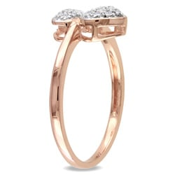 Miadora 10k Rose Gold 1/10ct TDW Diamond Heart Ring - Thumbnail 1