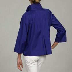 Black Rivet Women's Blue Front Button Jacket FINAL SALE - Thumbnail 1