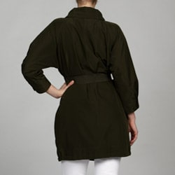 Kenneth Cole Women's Belted Anorak - Thumbnail 1
