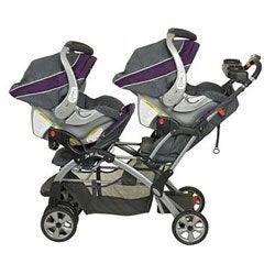 Baby Trend Sit N Stand Double Stroller in Elixer - Thumbnail 1