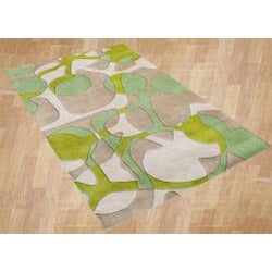 Alliyah Handmade Lime Green New Zealand Blend Wool Rug (8' x 10') - Thumbnail 1
